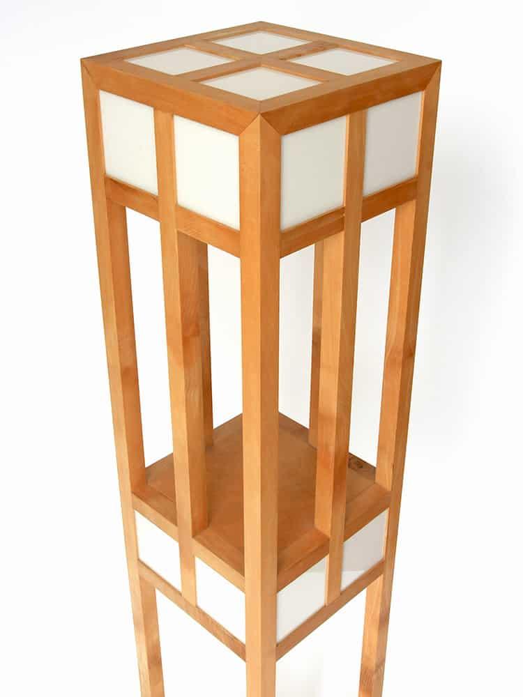 Esdoorn houten lamp