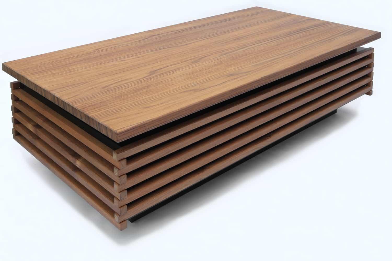 Teakhouten design salontafel