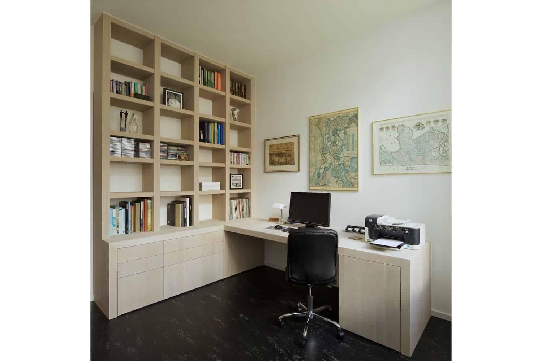 Kantoor Aan Huis : Kantoor aan huis met kast op maat en bureau
