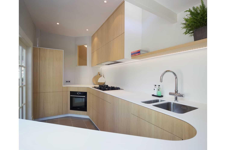 Moderne keuken historische woning