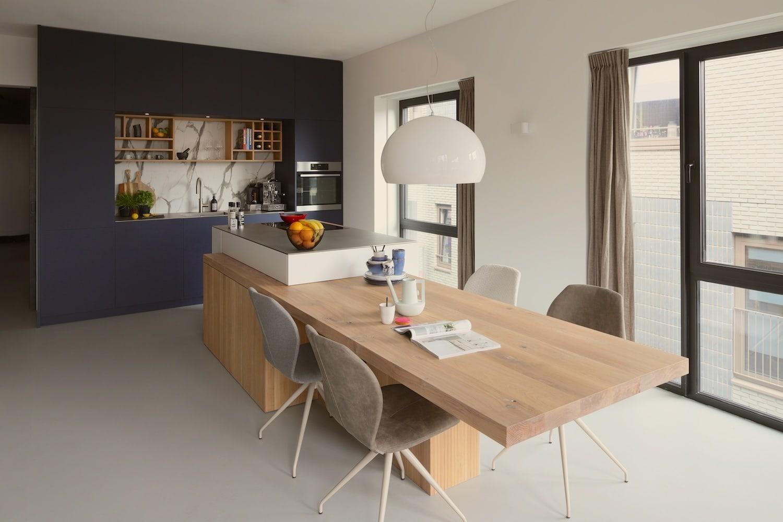 Eilandkeuken voor penthouse in Amsterdam